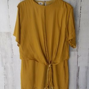 Anthropologie dRA Draped Knotted Silky Shift Dress